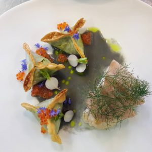 I like this one. Catfish | sweetpea | radish | mustard #restaurant #chefslife ...