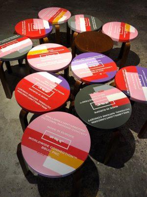 OUTDOORDISCO I. @artekglobal x @bbuc_co @hotelambrillantengrund #disco #artek #stool60 #alvaralto #design #vitra #createidentity ...