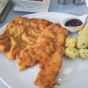 Weiner Schnitzel from @cafelandtman Won't break the bank, delicious and generous portions (not ...