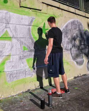 Peter Pan spraying his shadow Donaukanal . . . #igersvienna #wienstagram #stadtwien #viennatouristboard ...