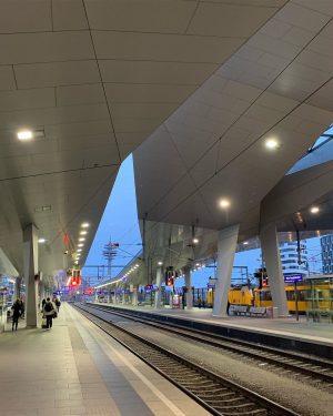 Red light! Vienna Haupbahnhof Train Station, Vienna, State of Vienna, Austria