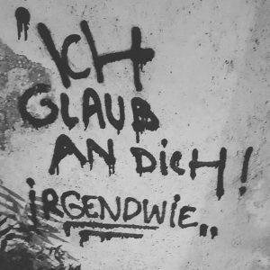 Und wer glaubt an dich? . #jugendinfowien #wienxtra #graffiti #wien #stadtschrift #streetart #wieden
