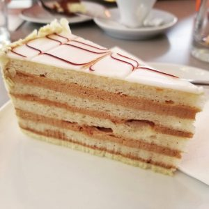 The Esterházy Torte at Cafe Landtmann #vienna #wien #dessert #esterhazytorte