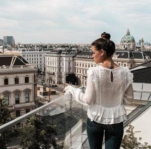 Hotel with a view. Enjoying #Vienna from our rooftop terrace. ❤️ #alwayontop⁠ .⁠ ...