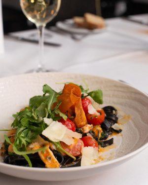 Executive Chef, Stefan Wödl and his team recommend: Black tagliatelle, frutti de mare with lemon and zucchini...