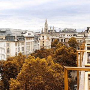 Now that's a room with a view 🍂 Thank you @viennainsider for this picture 🧡 #hiltonviennaplaza#autumninvienna#firstdistrict#börseviertel#vienna#explorehiltonaustria#weekendgetaway#universitätwien#rathausplatz#wienliebe