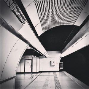 #ubahnwien #station #schwarzweiss Herrengasse (Vienna U-Bahn)