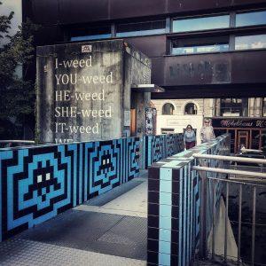 Schnitzel break #vienna #mumok #vertigo #invader #brutalism #schnitzel #weed