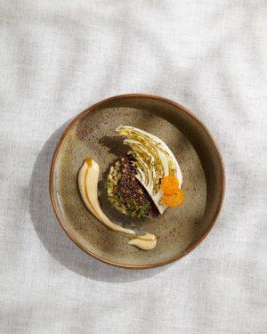 Pointed cabbage with cape gooseberry, hemp & sweet clover #inspiredbynature #foodofaustria #theworlds50best #lesgrandestablesdumonde #heinzreitbauer #michelinguide #steirereck Steirereck...