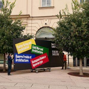 """Final installations for """"Kalter Krieg und Architektur"""" at @architekturzentrum_wien Exhibition runs from 17.10.2019 ..."""