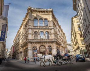 The Palais Ferstel (named after the architect Heinrich von Ferstel) built in 1850s ...
