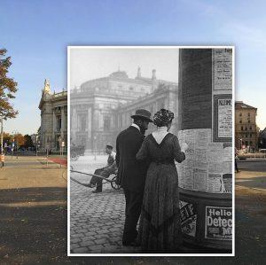 Burgtheater 1910|2018. Heute vor 131 Jahren, am 14. Oktober 1888, übersiedelte das Gebäude ...