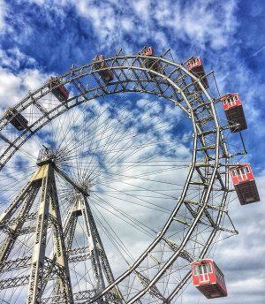 One wheel is all it takes 🎡🇦🇹 #travelphotography #viennanow #viennagoforit #wonderlustvienna #viennatouristboard #1000thingsinvienna ...