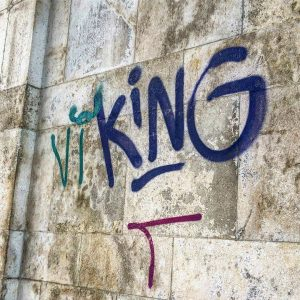 den här graffitin ser jag varje dag på väg till universitetet 🇸🇪💛 #vikingsinvienna ...