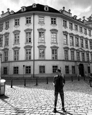 Vienna vibes ________________________________________ #vienna #oldtown #mozart #bw #monument