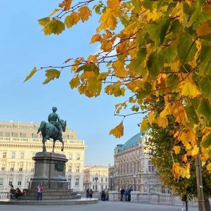Welcoming autumn with this beautiful view by @kartikalie 😍🍁🏛 #RegramFriday #Albertina #AlbertinaMuseum #museuminvienna #autumnlove