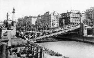 Schwedenbrücke ca. 1945|2019. Bis zum bis zum Ersten Weltkrieghieß die Brücke Ferdinandsbrücke und ...