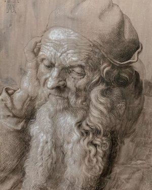 Ещё одна инсталляция поэтапного создания картины Св. Иероним. #albertina #dürer