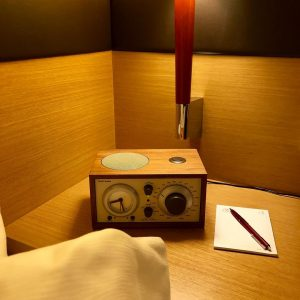 They even have a Tivoli radio on the nightstand, just like mine at home. Plus they give...