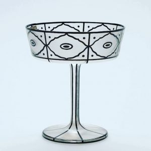 #Repost @annalisacassaniarchitetto ・・・ Josef Hoffman 1912 #josefhoffmann #wien #vienna #secessioneviennese #glass #glassdesign #design #handcraft #blackandwhite #beauty #lobmeyrbronzit