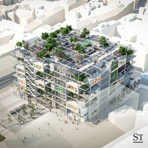 City-Ikea kommt mit 160 Bäumen und 345 Hotelbetten. Link in Bio! (Visualisierung: ZOOMVP_Querkraft)