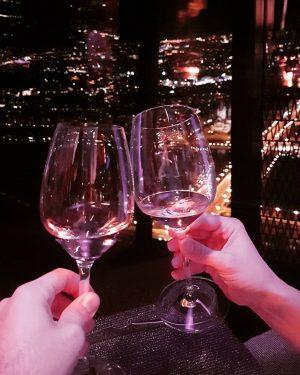 Happy B-day to me!!🎂🎉🍾 #wien #57restaurant #lovecouple #bday #57floor #wine #happymoments 57 Restaurant ...
