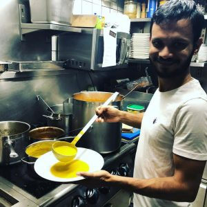 Kürbis Kokos currysuppe mit ingwer👍🏽genau das richtige zum vorbeugen💪🏽Mahlzeit 🥰