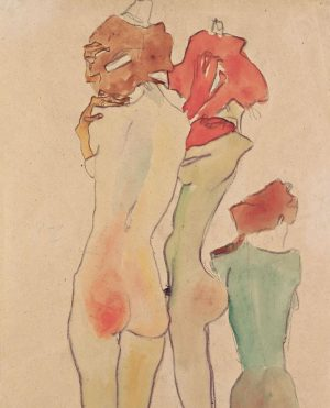 Hiding from Monday like...⬆️🙈 Some of you may know this #graphic by Egon Schiele . It's called...