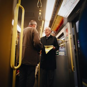 Zum nächsten Termin – der Eröffnung der @buchwien – geht's am besten mit der U-Bahn. Und es...