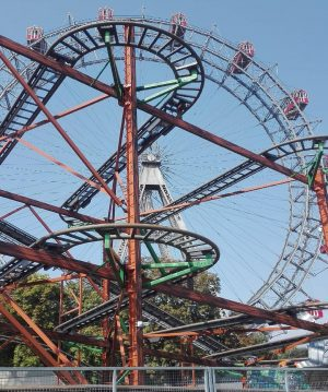 Prater, Vídeň #prater #vienna #austria #amusementpark #rollercoaster