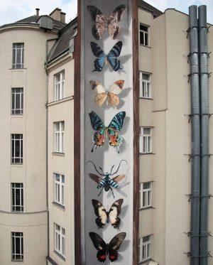 'Wiener Schmetterlinge' by French artist Mantra Rea (@mantrarea) for Calle Libre 2017 in ...