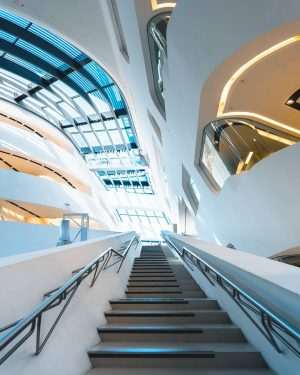 @zahahadidarchitects designed the Library & Learning Center of the Vienna University of Economics,next to the Prater. Its...