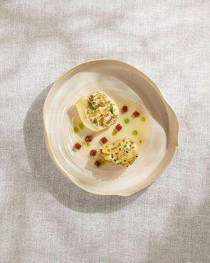 Fennel with bergamot, hemp, salty figs & lovage #inspiredbynature #foodofaustria #lesgrandestablesdumonde #theworlds50best #guidemichelin #gaultmillau #heinzreitbauer Steirereck im...