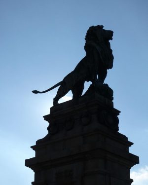 Vienna 2016 ウィーン ・ ・ #vienna #wien #lion #bridge #statue #bluesky #memories #ウィーン ...