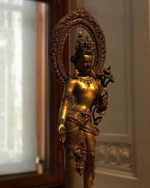 Padmapani Lokeshvara or Lotus holder is the Bodhisattva who embodies unceasing compassion. Images of the Bodhisattva have...