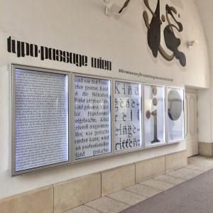 Typopassage Wien #museumsquartier #museumsquartierwien #typography #typopassage #alexlebus #tizianrupp #passage @toledodertschei MQ – MuseumsQuartier Wien