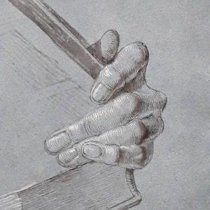 Эскизы Дюрера к его живописным полотнам, на мой взгляд, намного сильнее самих картин. Дальше пример приведу. Albertina...