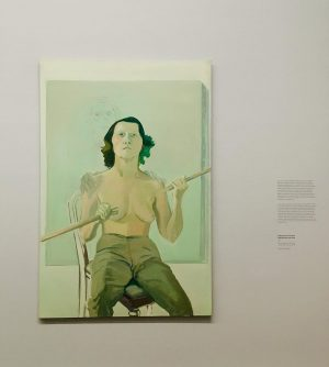 Self-Portrait with Stick | 1971 Self-Portrait with Stick reveals her vulnerability as a woman in the image...