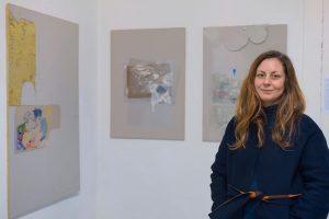 """From our current group exhibition """"die weisse ab-haus-verkaufs-kunstschau"""" #06:  KARINE FAUCHARD (@karinefauchardstuduo)  Works: """"Vulkanische Aue,..."""