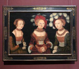 #вечеринка💃💃💃 Лукас Кранах Старший « Саксонские принцессы Сибилла, Эмилия и Сидония» 1535г. Kunsthistorisches ...