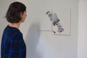 """From our current group exhibition """"die weisse ab-haus-verkaufs-kunstschau"""" #06:  SOPHIE DVORÁK (@_sophiedvorak_)  Works: """"Untitled (erosion)"""",..."""