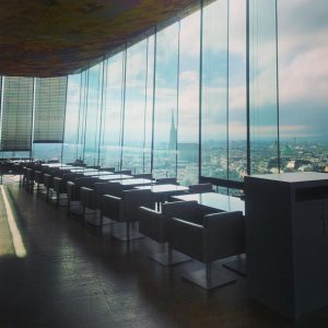 루프탑 꼭대기, 통유리로 비엔나 전체를 한 눈에 볼 수 있는 #dasloft 미쉐린 1star인데, 서버와 뷰만으로는 미쉐린 3star....