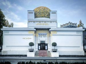 Haus der Gustav ⚡️☄️🌟 #viennasecession #gustavklimt #vienna #architecture