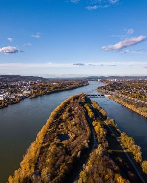 Vienna in November view to Klosterneuburg #donauinsel #dronestagram #vienna #wienliebe #cityphotography #beautifulvienna #nature ...