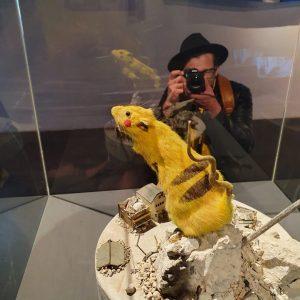 @nintendode @pokemondeu @gamefreak_official ⚡️🐭 @mqwien #japanunlimited #museumsquartier #wien #austellung #digitalartwork #pikachu #pokemon