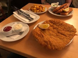 Austria - the land of schnitzel: deep fried veal, pork or chicken. We ...