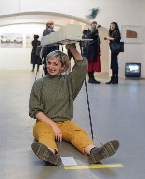 """From our current group exhibition """"die weisse ab-haus-verkaufs-kunstschau"""" #06:  VERONIKA BURGER (@veronika_burger)  Works: """"Dialoge über..."""
