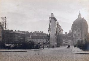 Otto Wagners Museumsschablone zur Visualisierung des Stadtmuseums am Karlsplatz, 1910. Foto: © Wien ...