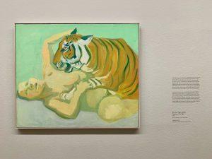 sleeping with a tiger #marialassnig Albertina Museum