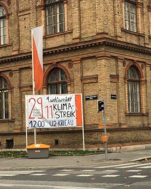 Sace the date! / @fridaysforfuturevienna #vienna @dieangewandte #universityforfuture #thereisnoplanetb Oskar-Kokoschka-Platz